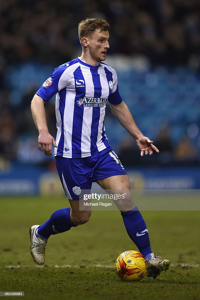Tom Lees of Sheffield Wednesday in action during the Sky Bet Championship match between Sheffield Wednesday and Birmingham City at Hillsborough Stadium on January 27, 2015 in Sheffield, England.