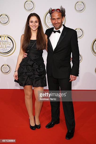 Tom Lehel with his daughterJana Lehel attend the McDonald's charity gala on November 13 2015 in Cologne Germany