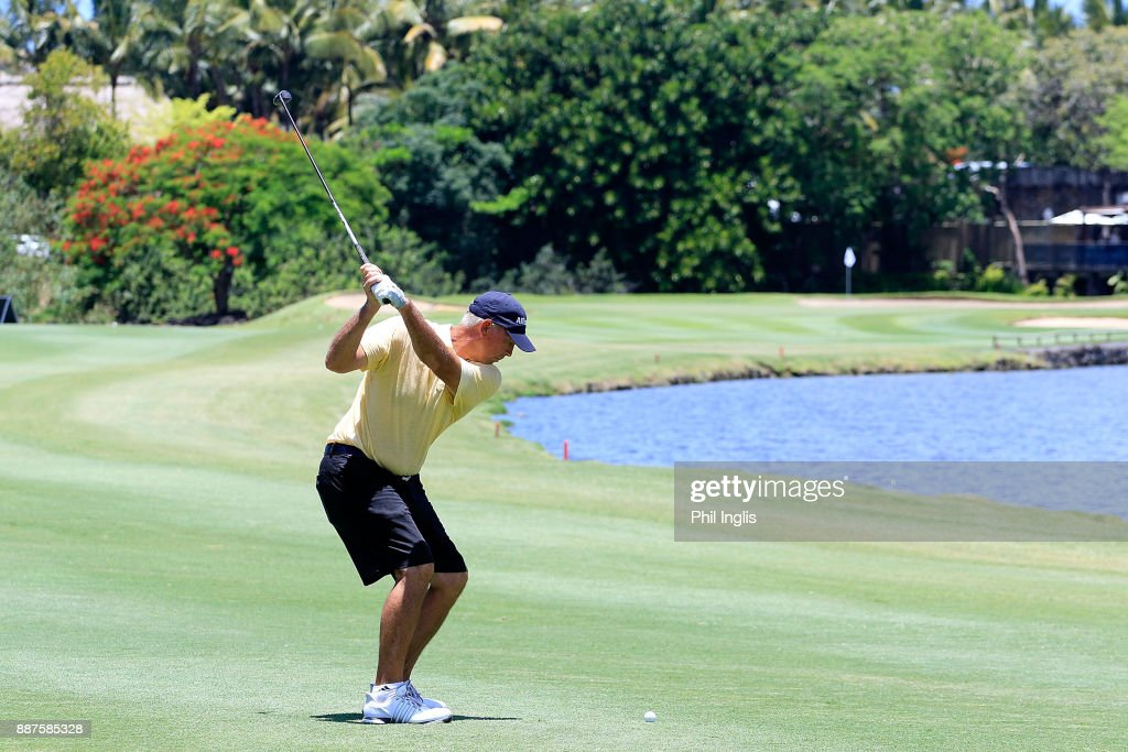 Tom Lehman of United States in action during the ProAm ahead of the first round of the MCB Tour Championship played over the Legend Course at Constance Belle Mare Plage on December 7, 2017 in Port Louis, Mauritius.