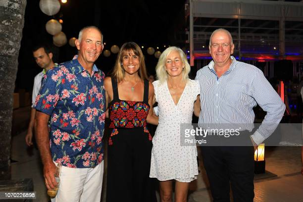 Tom Lehman of United States Melissa Lehman Suzanne Collins Jean Jaques Vallet CEO Constance Hotels Resorts and Golf attend cocktails prior to...