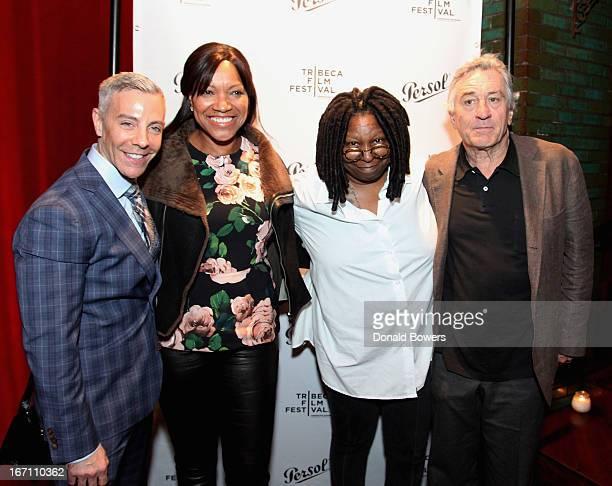 Tom Leonardis Grace Hightower Whoopi Goldberg and Robert De Niro attend HBO's 'Moms Mabley I Got Somethin' To Tell You' premiere at Tribeca Film...