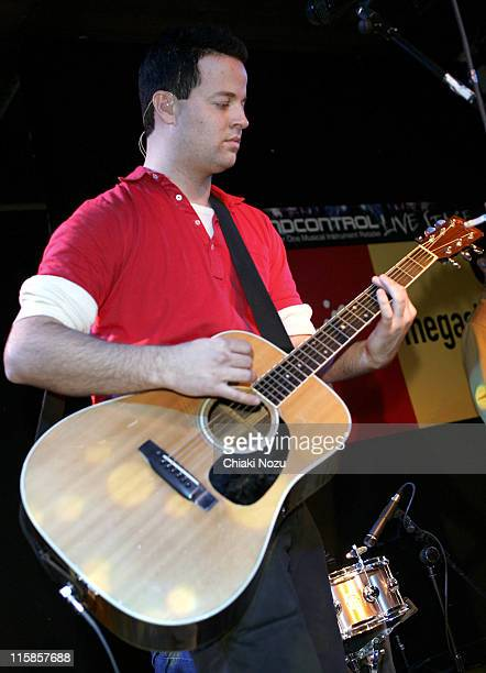 Tom Linton of Jimmy Eat World during Jimmy Eat World InStore Performance and Album Signing at Virgin Megastore in London March 21 2005 at Virgin...