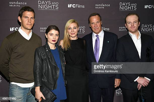 Tom Lipinski Eve Hewson Juliet Rylance Grainger Hines and Jeremy Bobb attend the premiere of 'Days And Nights' at the IFC Center on September 25 2014...