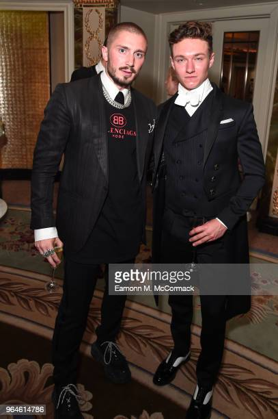 Tom London and Harrison Osterfield attend the Tempus Earth Conservation Gala in aid of the WWF at The Dorchester on May 31 2018 in London EnglandThe...