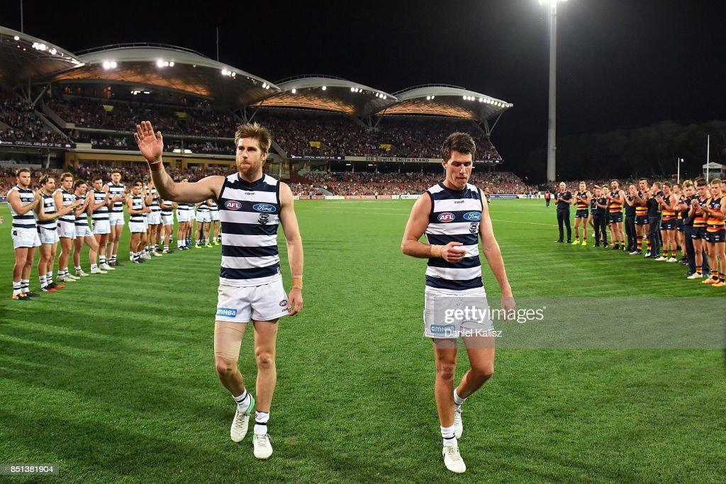 AFL 1st Preliminary Final - Adelaide v Geelong : News Photo