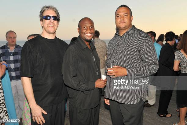 Tom Loomis Don Ward and Carl Smith attend Hampton Co Celebrates The ARF Beach Ball at Bridgehampton Tennis and Surf Club on August 15 2009 in...