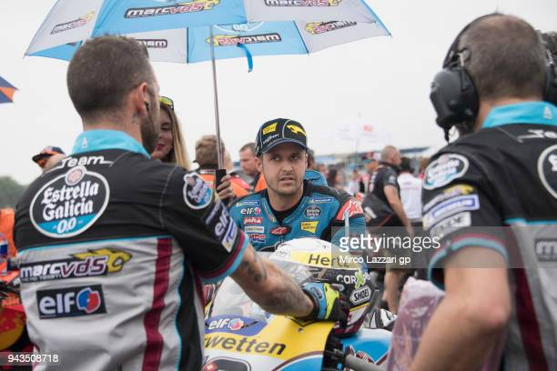 Tom Luthi of Switzerland and and Team EG 00 Marc VDS prepares to start on the grid during the MotoGP race during the MotoGp of Argentina Race on...
