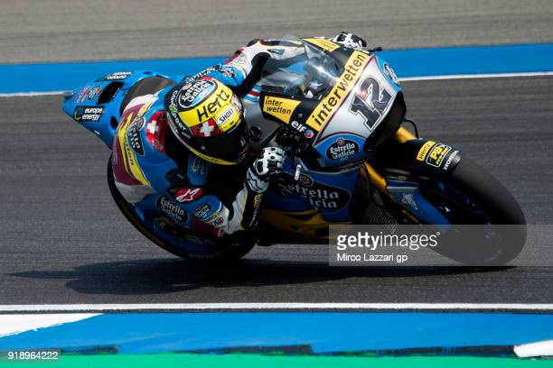 Tom Luthi of Switzerland and and Team EG 00 Marc VDS rounds the bend during the MotoGP Tests In Thailand on February 16 2018 in Buri Ram Thailand