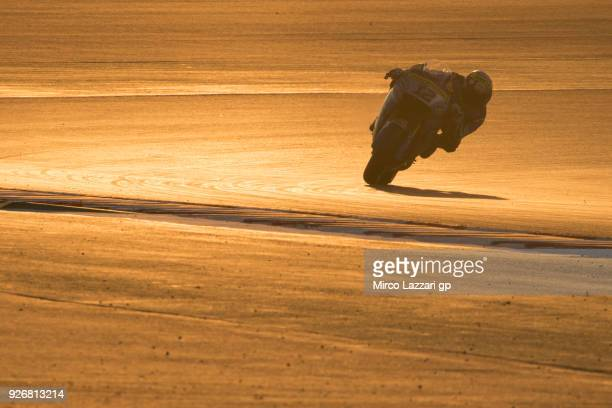 Tom Luthi of Switzerland and and Team EG 00 Marc VDS rounds the bend during the Moto GP Testing Qatar at Losail Circuit on March 3 2018 in Doha Qatar