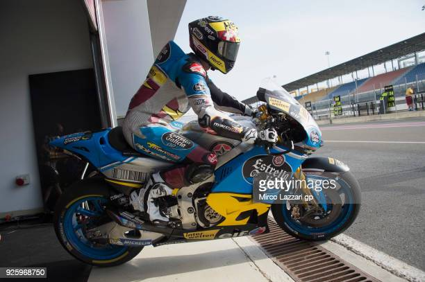 Tom Luthi of Switzerland and and Team EG 00 Marc VDS starts from box during the MotoGP Testing Qatar at Losail Circuit on March 1 2018 in Doha Qatar