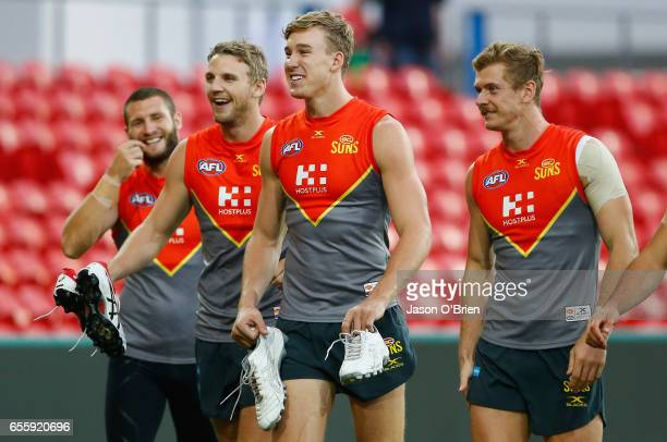 Tom Lynch during a Gold Coast Suns AFL training session at Metricon Stadium on March 21 2017 in Gold Coast Australia