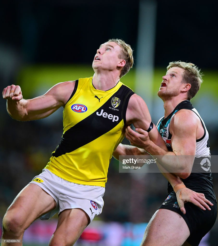 AFL Rd 4 - Port Adelaide v Richmond : News Photo
