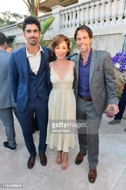 Tom Maden Autumn Reeser and Shawn Christian attend Hallmark Channel and Hallmark Movies Mysteries Summer 2019 TCA Press Tour Event Cocktail Reception...