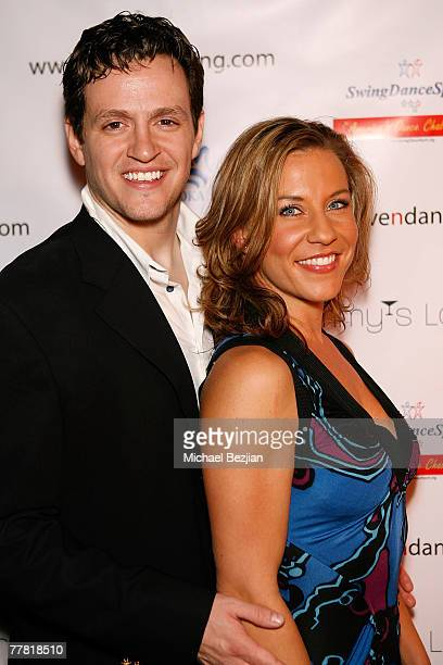 Tom Malloy and Brandi Tobias arrive at the Love N' Dancing Cast Party at Jimmy's Lounge on November 7, 2007 in Hollywood, California.