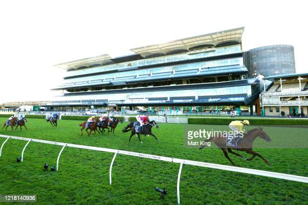 Tom Marquand riding Addeybb wins Race 8Longines Queen Elizabeth Stakes during Sydney Racing The Championships Day 2 Queen Elizabeth Stakes Day at...