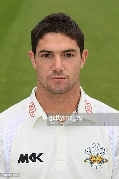 Tom Maynard of Surrey poses for a pictures during the Surrey CCC photocall at The Kia Oval on March 9 2012 in London England