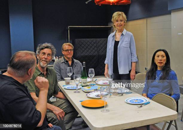 Tom McGowan John Glover David Rasche Jill Eikenberry and Jodi Long attends the 'Fern Hill' Director And Cast Meet And Greet at Theatre Row Studios on...