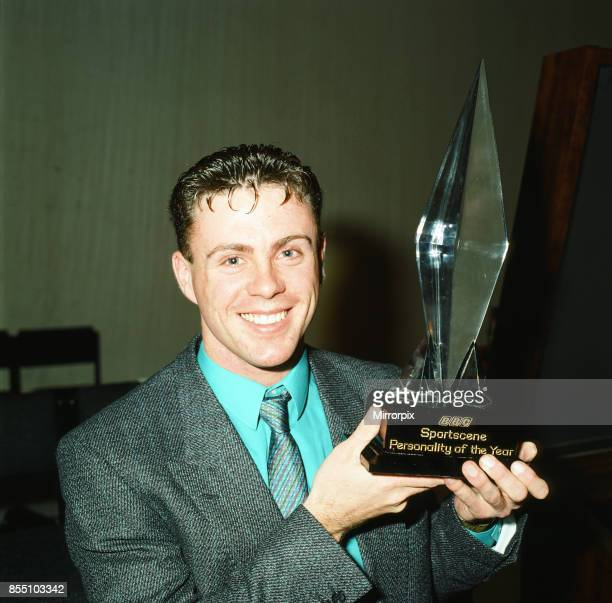 Tom McKean, 800 metre runner with the BBC's Sportscene Personality of the Year Award, which he won and was presented with in Glasgow, 7th December...
