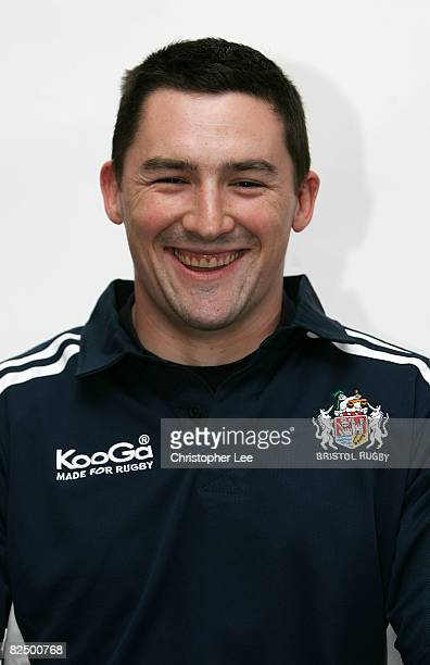 Tom McLaughlin of Bristol poses for the camera during the Bristol Rugby Club Photocall at Clifton Rugby Club on August 19, 2008 in Bristol, England.