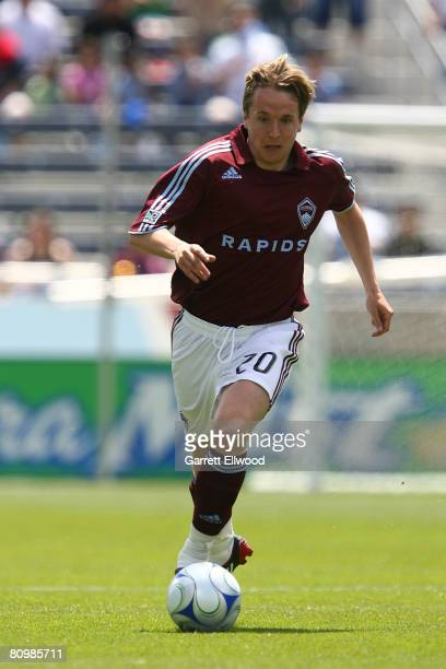 Tom McManus of the Colorado Rapids controls the ball against DC United during the MLS game on May 4 2008 at Dicks Sporting Goods Park in Commerce...