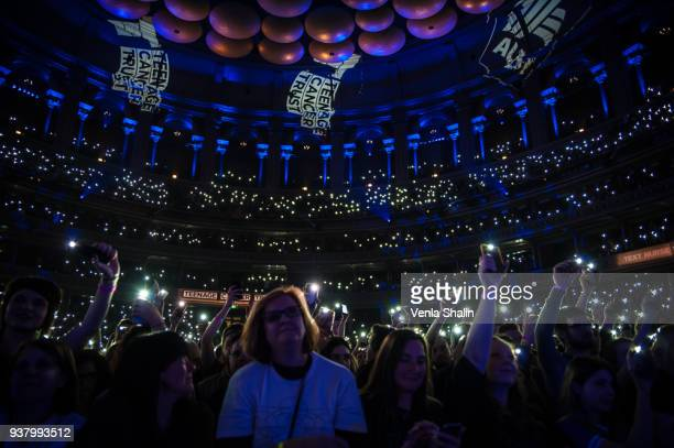Tom Meighan and Sergio Pizzorno of Kasabian perform live on stage at Royal Albert Hall on March 24 2018 in London England
