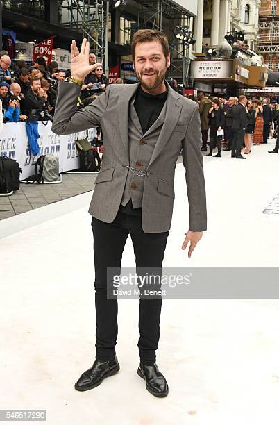 "Tom Meighan attends the UK premiere of ""Star Trek Beyond"" on July 12, 2016 in London, United Kingdom."