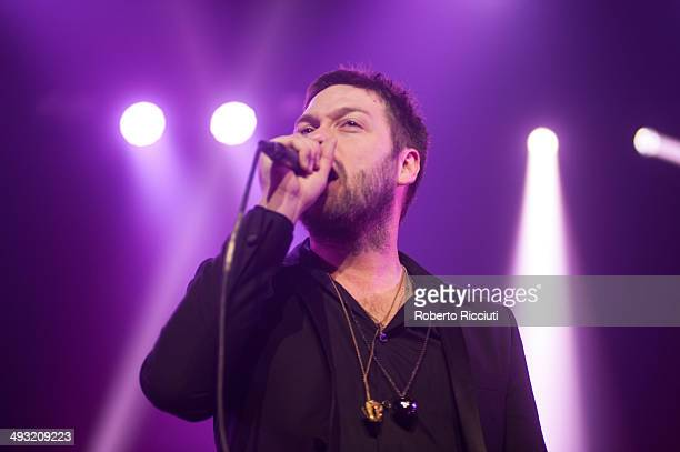 Tom Meighan of Kasabian performs on stage at Alhambra Theatre on May 22 2014 in Dunfermline United Kingdom