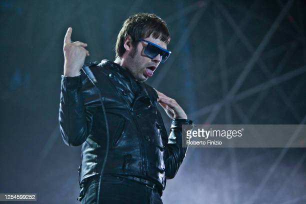 Tom Meighan of the band Kasabian perform at Ippodromo San Siro on July 19 2012 in Milan Italy