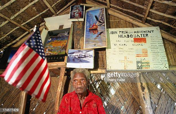 Tom Meles one of the historical chiefs of the John Frum movement He's one of the few to have seen John Frum in a dream more than fifty years ago