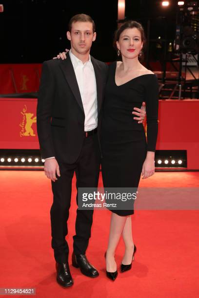 Tom Mercier and Louise Chevillotte attend the 'Synonymes' premiere during the 69th Berlinale International Film Festival Berlin at Berlinale Palace...