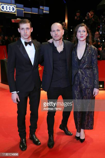 Tom Mercier Director Nadav Lapid and Louise Chevillotte arrive for the closing ceremony of the 69th Berlinale International Film Festival Berlin at...