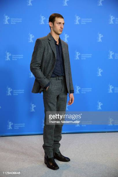 Tom Mercier poses at the Synonymes photocall during the 69th Berlinale International Film Festival Berlin at Grand Hyatt Hotel on February 13 2019 in...