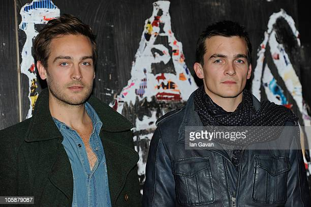 Tom Mison and Rupert Friend attend the 'Steve' short screening during the 54th BFI London Film Festival at the BFI Southbank on October 21 2010 in...