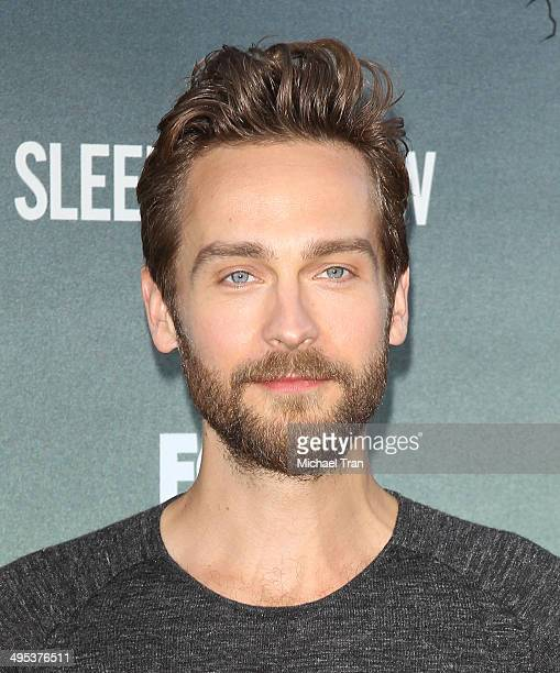 Tom Mison arrives at Fox's 'Sleepy Hollow' special screening held at Hollywood Forever on June 2 2014 in Hollywood California