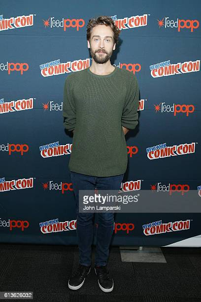 Tom Mison attends the Sleepy Hollow Press Room during 2016 New York Comic Con at The Javits Center on October 9 2016 in New York City