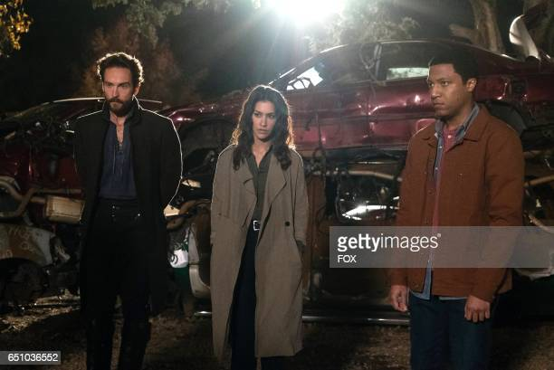 Tom Mison Janina Gavankar and Jerry MacKinnon in the Insatiable episode of SLEEPY HOLLOW airing Friday March 10 on FOX