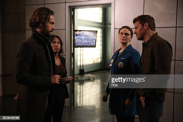 Tom Mison Nicole Beharie guest star Emily Deschanel from BONES and David Boreanaz from BONES in the Dead Men Tell No Tales' episode of SLEEPY HOLLOW...