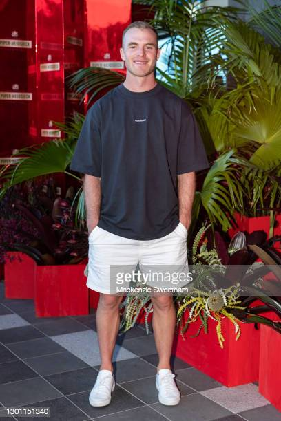 Tom Mitchell attends the Piper-Heidsieck Champagne Bar during the 2021 Australian Open at Melbourne Park on February 09, 2021 in Melbourne, Australia.