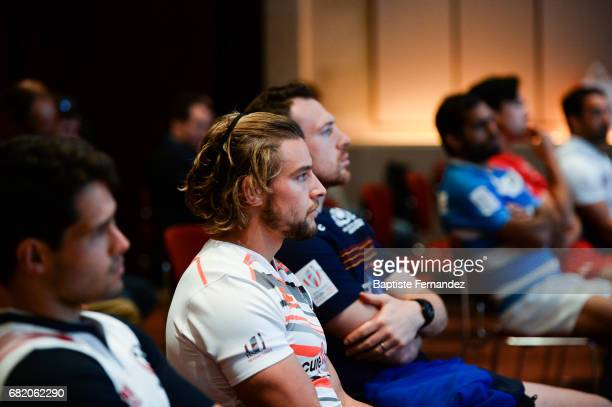 Tom Mitchell of England during Captains photocall and press conference prior to the Hsbc Paris Rugby Sevens on May 11 2017 in Paris France
