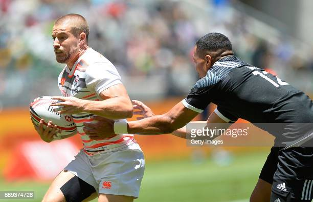 Tom Mitchell of England during day 2 of the 2017 HSBC Cape Town Sevens match between England and New Zealand at Cape Town Stadium on December 10 2017...