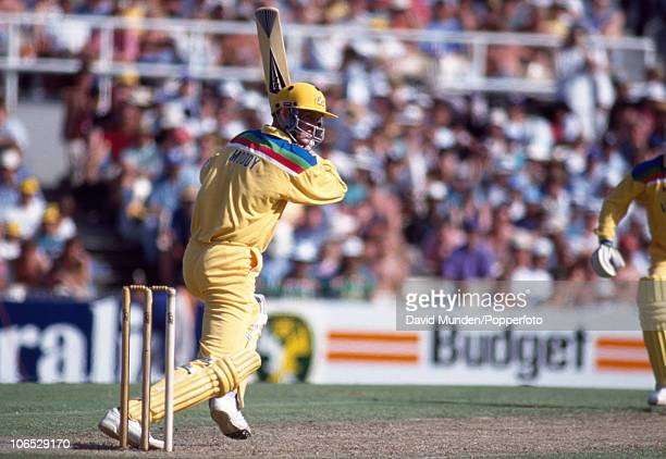 Tom Moody batting for Australia during their World Cup match against South Africa at the Sydney Cricket Ground 26th February 1992 South Africa won by...
