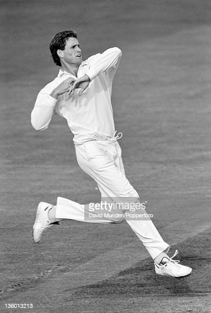 Tom Moody bowling for Australia during their match against Yorkshire at Headingley in Leeds 23rd May 1989 Australia won by 109 runs