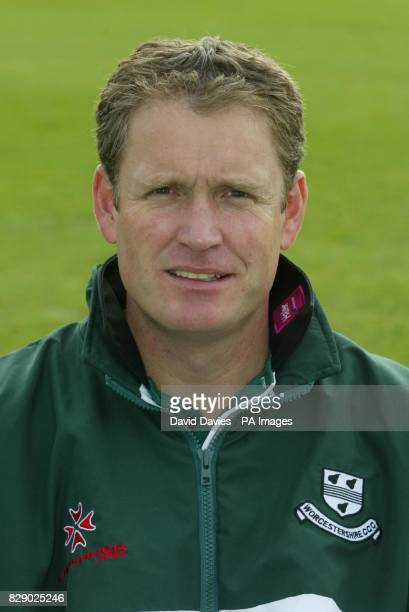 Tom Moody Director of Cricket/ First XI Coach of Worcestershire County Cricket Club during a photocall at Worcester ahead of the new 2004 season