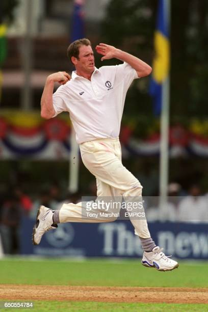 Tom Moody of Australia runs in to bowl