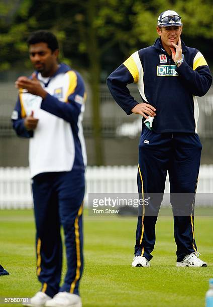 Tom Moody the Sri Lankan coach looks on during the Sri Lanka nets session at Lord's Cricket Ground on May 9 2006 in London England