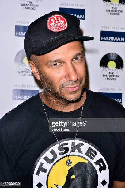 Tom Morello attends the Los Angeles Premiere of 'The Distortion of Sound' at The GRAMMY Museum on July 10 2014 in Los Angeles California