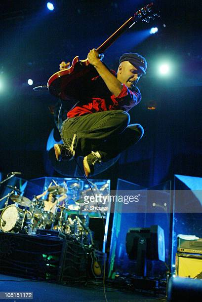 Tom Morello of Audioslave during Lollapalooza 2003 Tour Opening Night Indianapolis at Verizon Wireless Music Center in Indianapolis Indiana United...