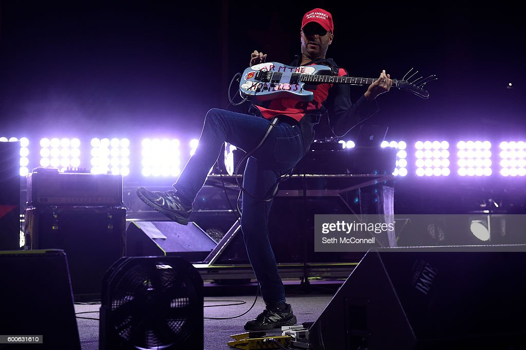 Tom Morello of Prophets of Rage perform at Red Rocks Amphitheatre in Morrison, Colorado on September 7, 2016.