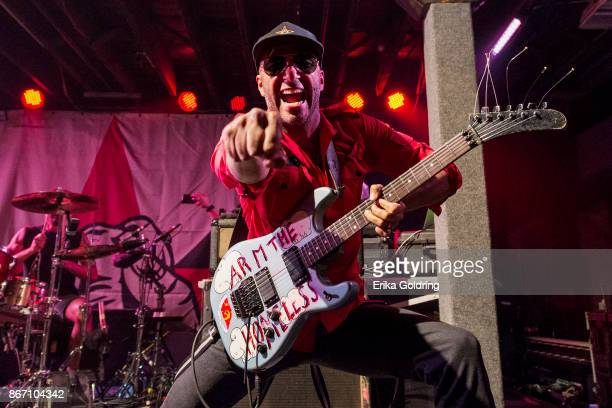 Tom Morello of Prophets of Rage performs at Tipitina's on October 26 2017 in New Orleans Louisiana