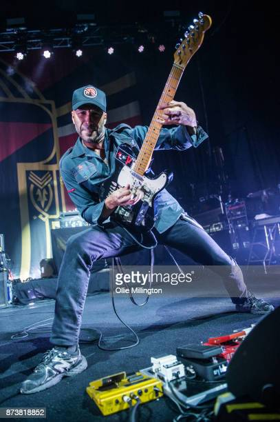 Tom Morello of Public Enemy performs as part of Prophets of Rage live on stage at the O2 Forum Kentish Town on November 13 2017 in London England